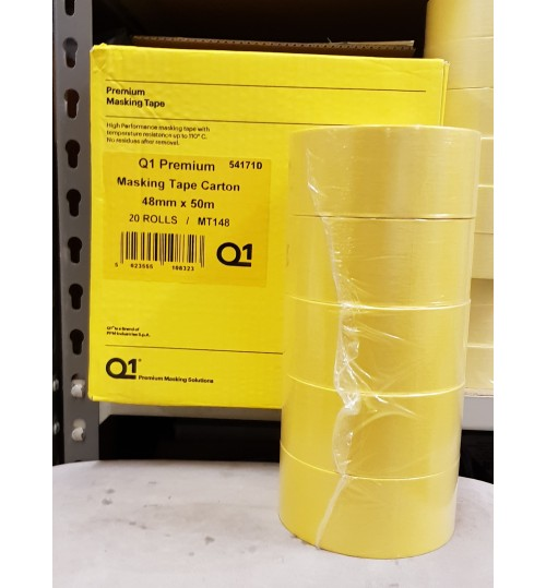 Q1 Premium Masking Tape 48mm X 50m Box of 20