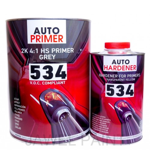 HB Body 534 2K Acrylic Primer Grey HS 4:1 5Litre Kit