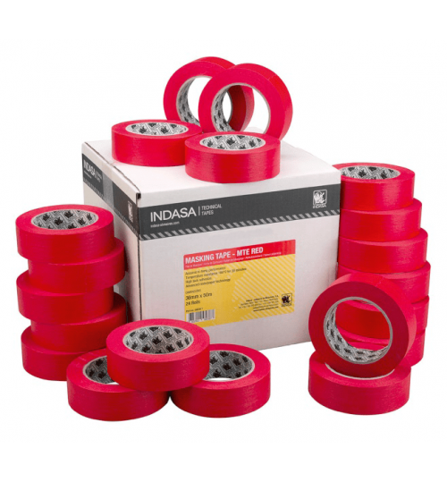 Indasa MTE-RED Hi-Temp Masking Tape 24mm,36mm,48mm