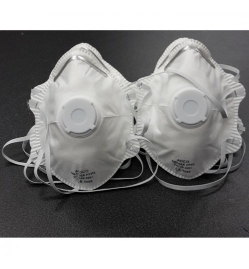 DISPOSABLE DUST MASK WITH  VALVE (10 PCS)